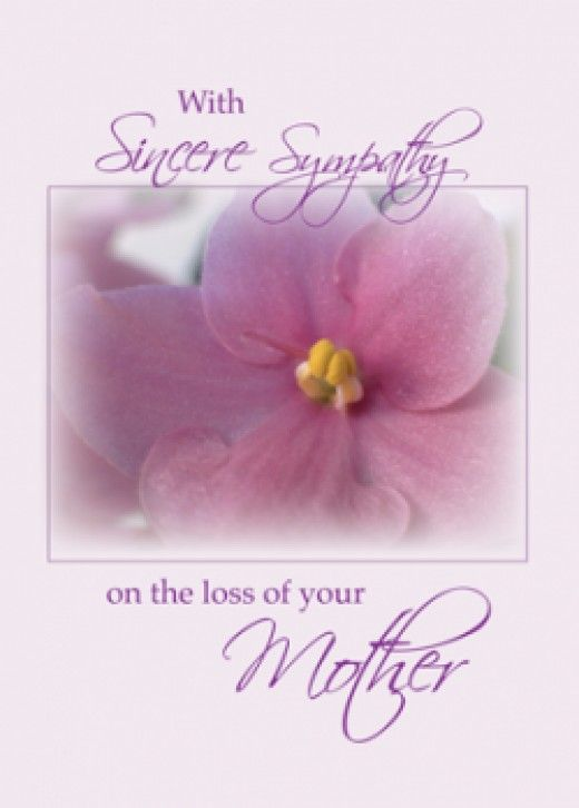 writing a sympathy card for loss of mother