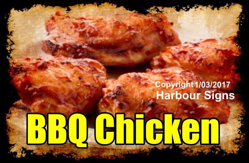 Decal Choose Your Size Bbq Chicken Food Truck Sticker Restaurant