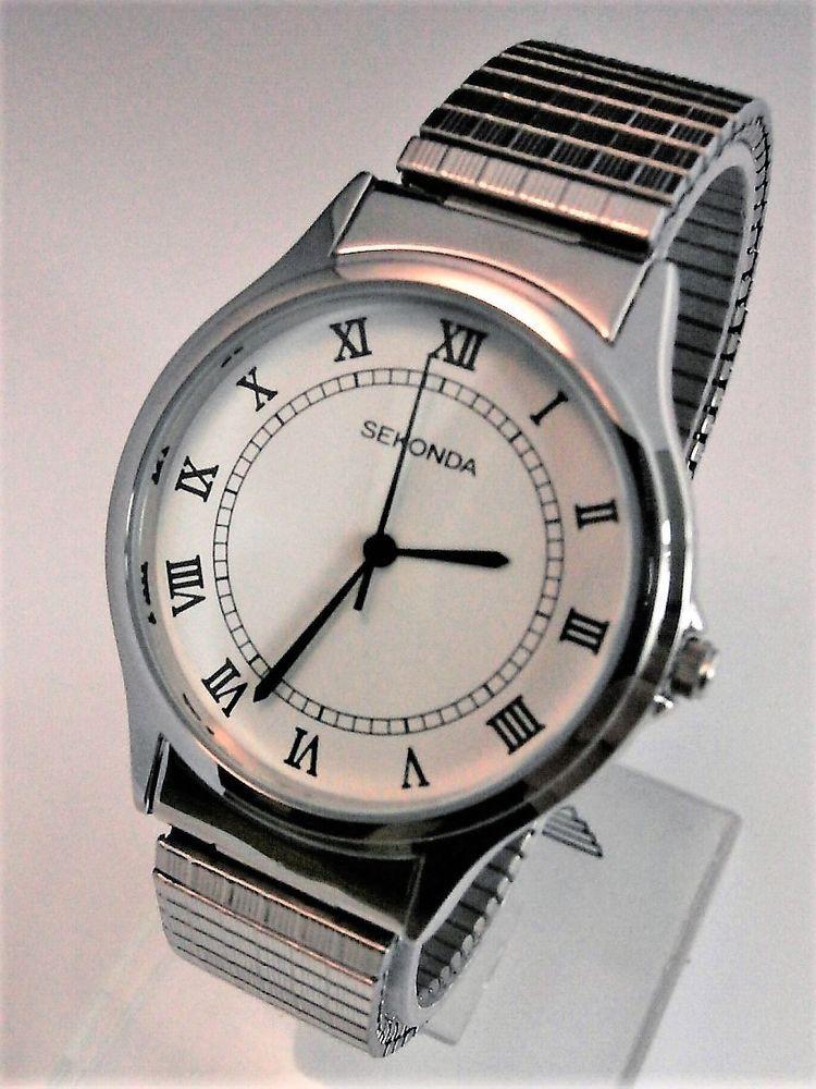 Men's Women's Wrist Watch Sekonda Silver Toned Roman