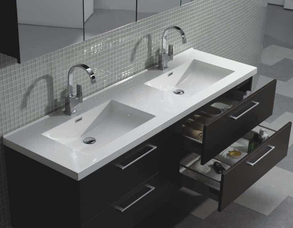 67 Modern Wall Mount Bathroom Vanity Double Sink Tn A1710 Wg