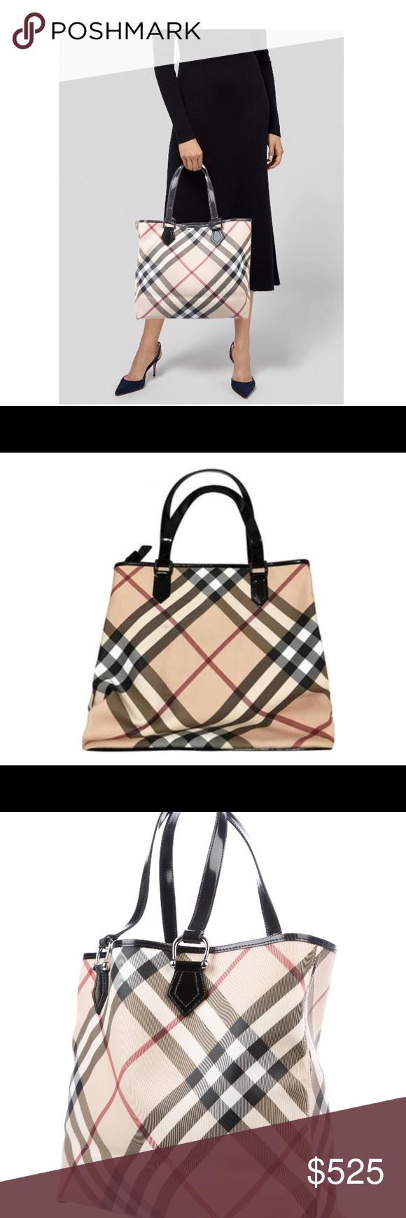 6daca64e76332 Authentic Burberry Super Nova Check Tote Bag 100% Authentic & in ...