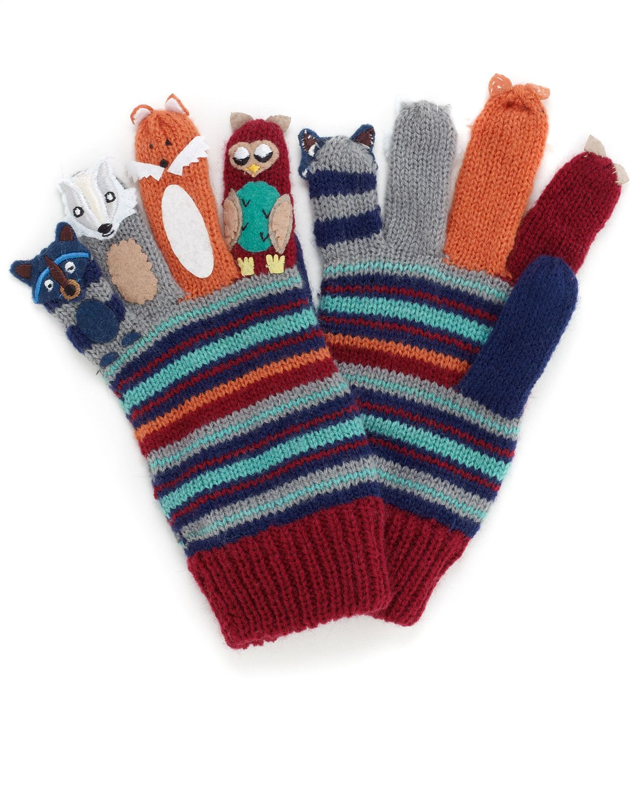 Mens novelty gloves - Boy Woodland Friends Novelty Gloves 18 00 Monsoon