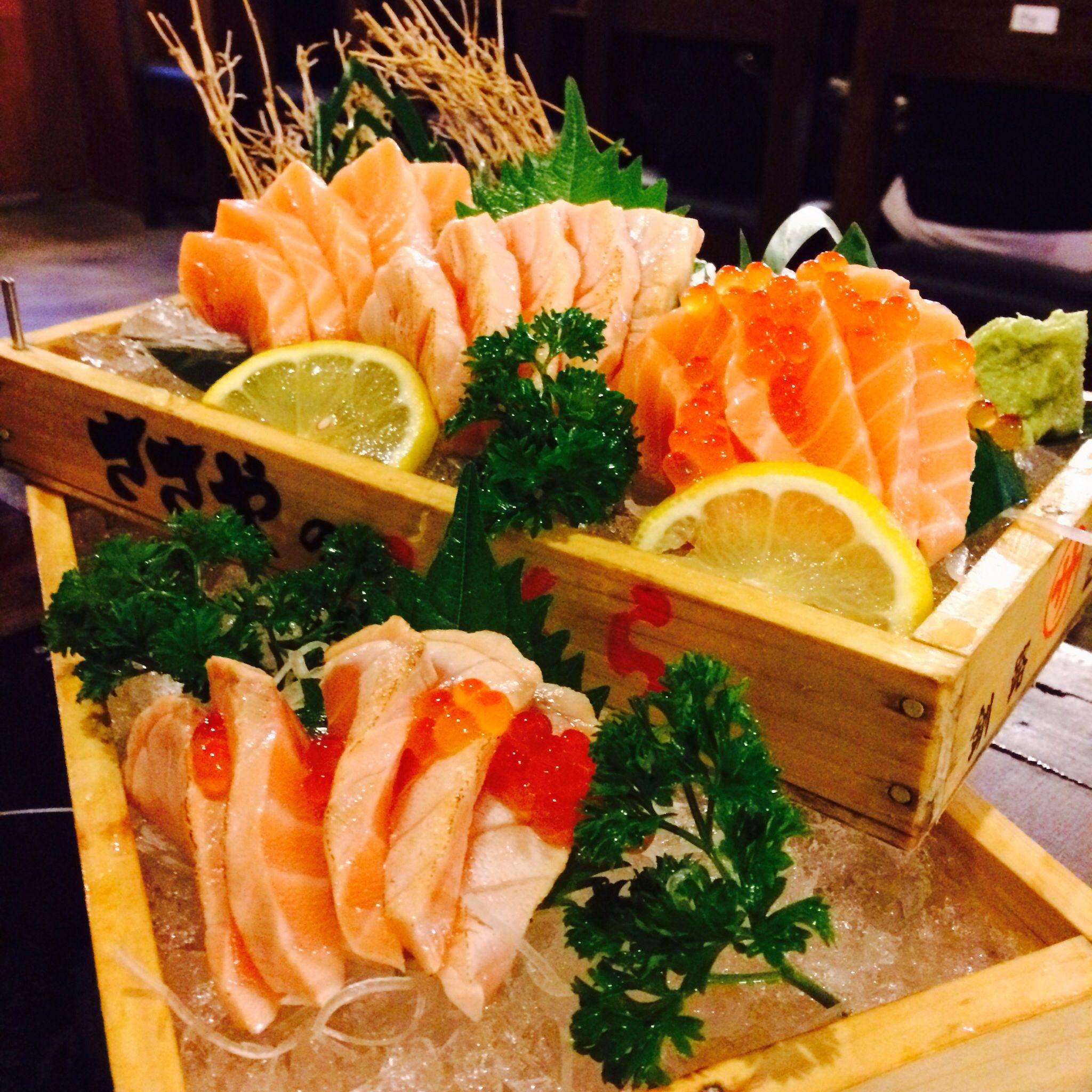 Salmon Set from NAGIYA :) yummy