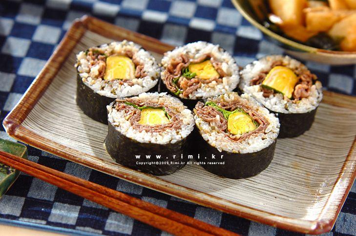 맛있는 요리 레시피 - 리미의 레시피 ::Rimi.kr:: - 소고기 김밥