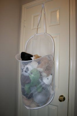 Wreath Hanger+Door+Mesh Laundry H&er u003d Stuffed animal storage @Rachel Anderson & Wreath Hanger+Door+Mesh Laundry Hamper u003d Stuffed animal storage ...
