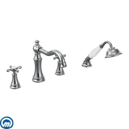 Moen Ts21102 Weymouth Deck Mounted Roman Tub Filler Trim With
