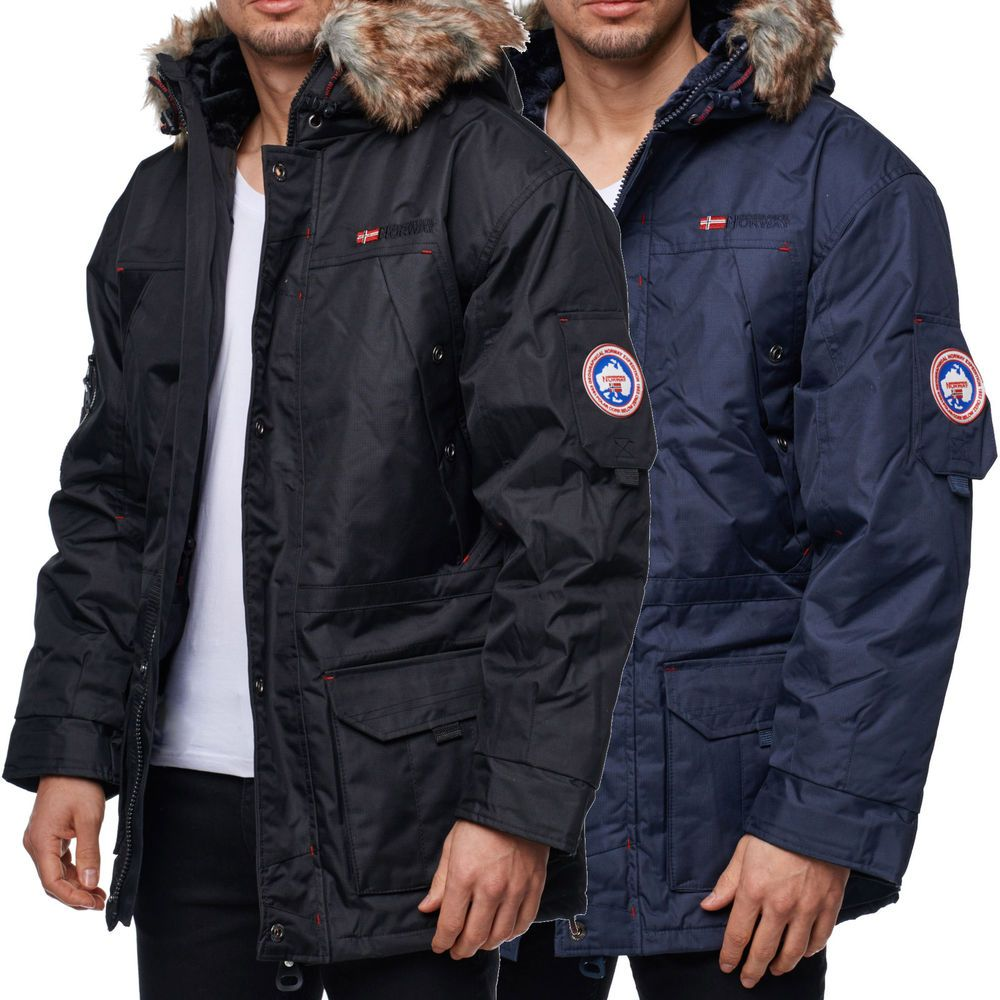 details zu geographical norway mantel herren jacke parka winterjacke winter bomberjacke fit german. Black Bedroom Furniture Sets. Home Design Ideas