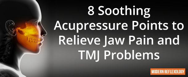 Acupressure along with facial muscle exercises is a great way to reduce pain and discomfort in the jaws and TMJ symptoms like inflammation, spasms, swelling, and pain.