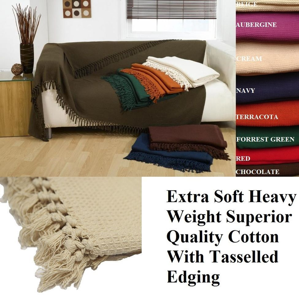 King Size Bed Throws Details About 100 Cotton Honeycomb Waffle Sofa Settee Bed Throw