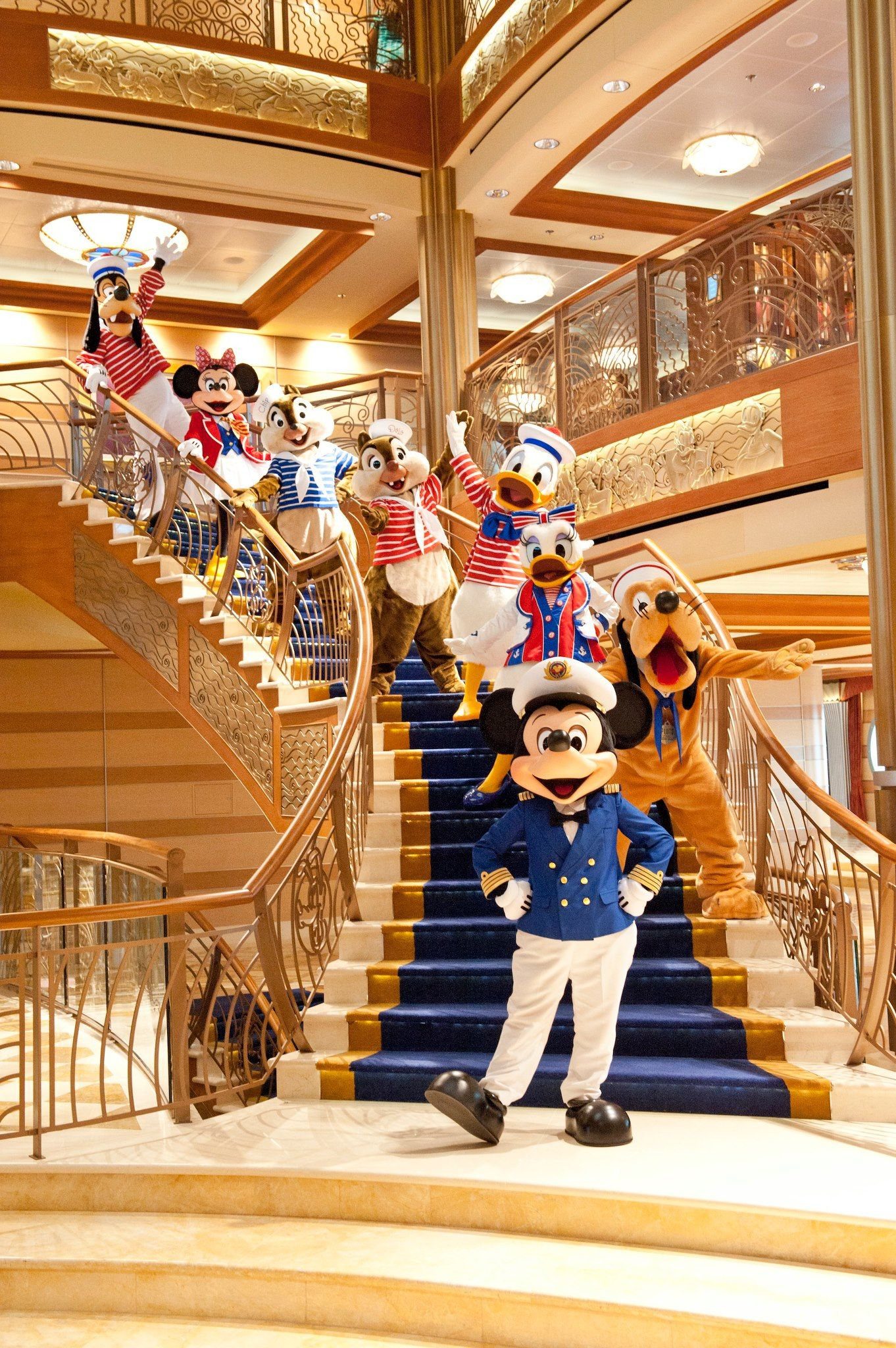 Disney Cruise Line Disney Wonder Main Lobby: Captain #Mickey And All The Crew Welcome You And Your