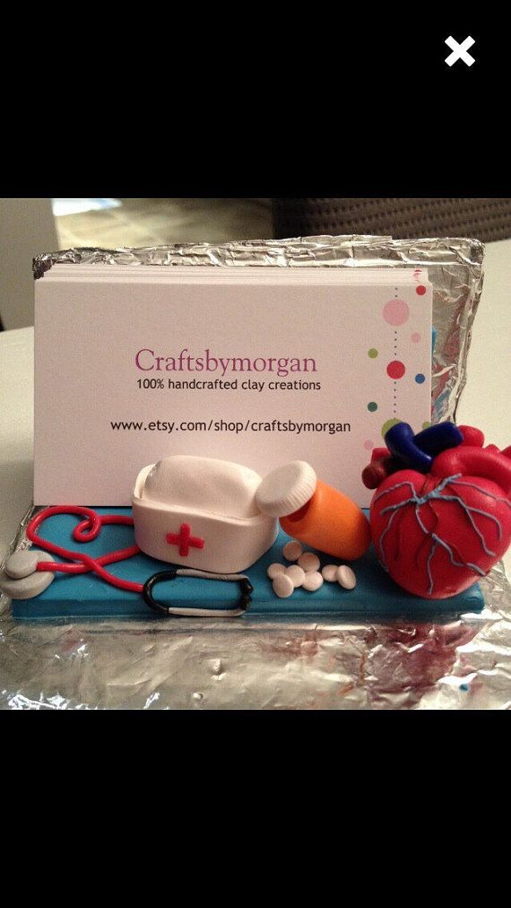 A Doctor or Nurse Business Card Holder ~ 100% handmade using ...