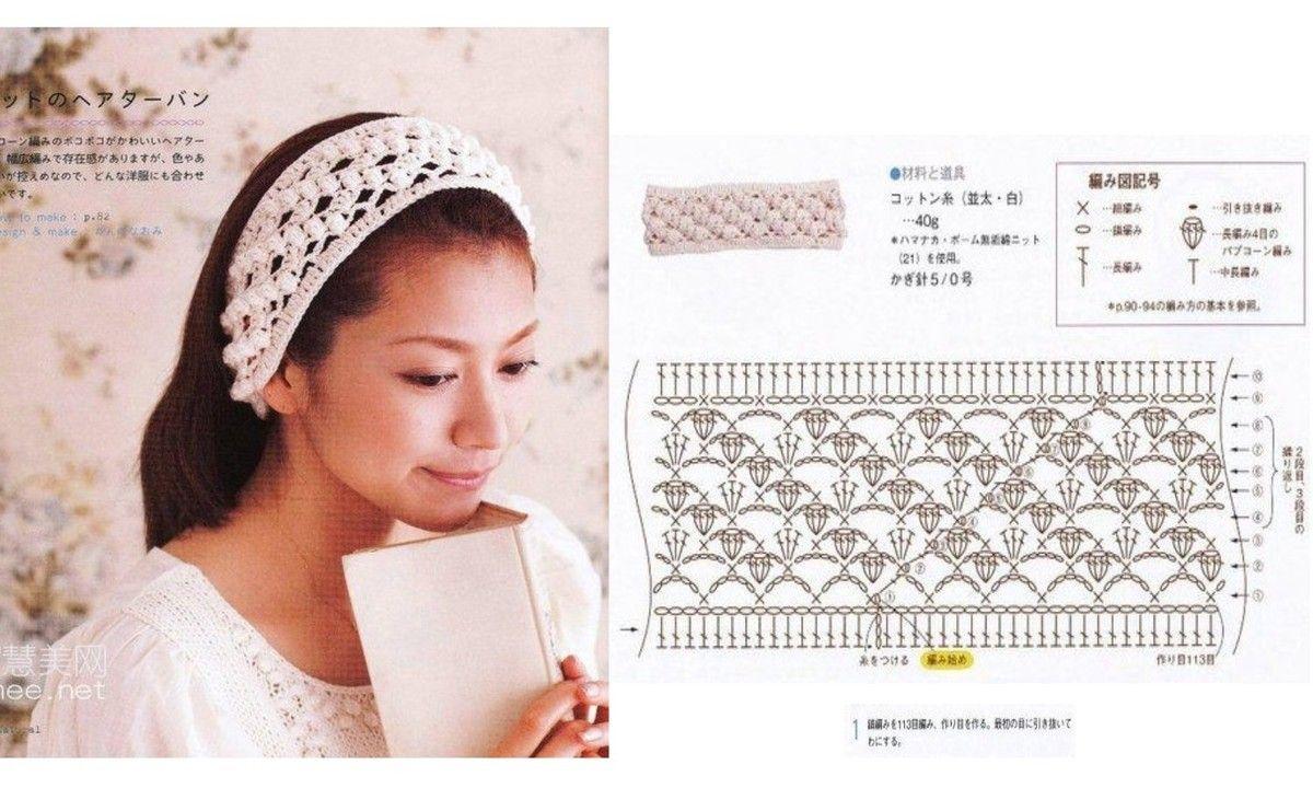 diademas a crochet patrones - Buscar con Google | crochet bijou y ...