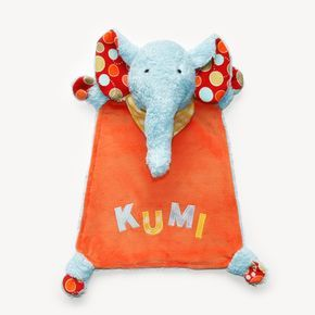 """Mit Nähanleitung Schnuffeltuch Elefant """"KUMI"""" als eBook zum downloaden im PDF-Format kannst du ein süßes Elefanten-Schmusetuch selber nähen."""