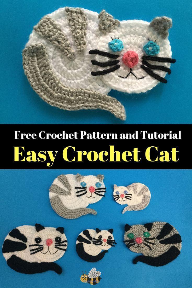 Easy Cat Crochet Pattern – El işleri ,örgü,dantel ,etamin