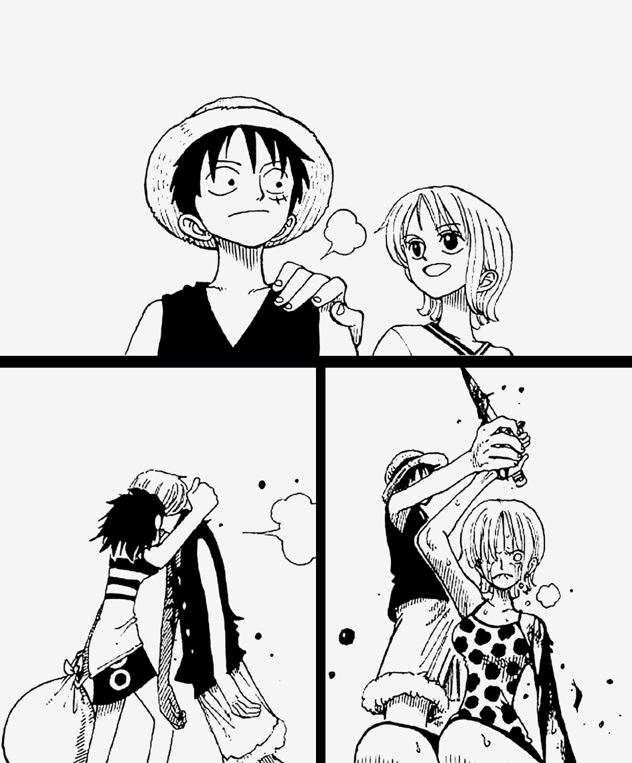 Log in One piece manga, Luffy, One piece anime