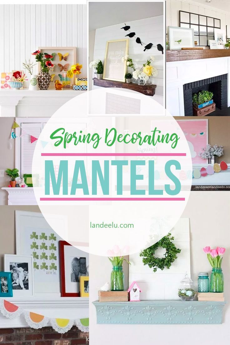 If you're looking for some cute spring decorating ideas for your mantel, this is the place! Get inspired to bring some spring inside! #SpringMantelDecor   #SpringDecor