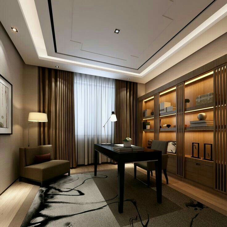 24 Luxury And Modern Home Office Designs: Pin By Imran Malik On Office