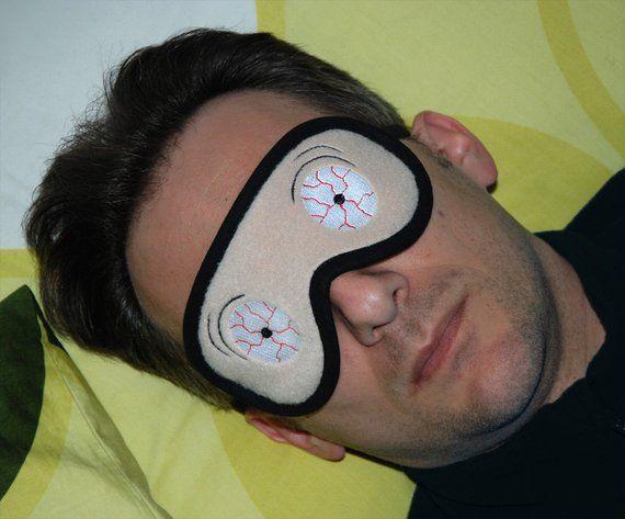SAINT ST BERNARD EYES SLEEP MASK S Size Funny Gifts for Boy Girl Dog Lover Stuff