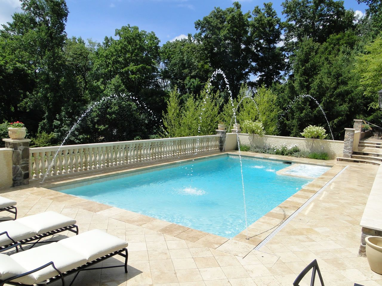 luxury in ground swimming pool and patio design ideas and - Pool Designs Ideas