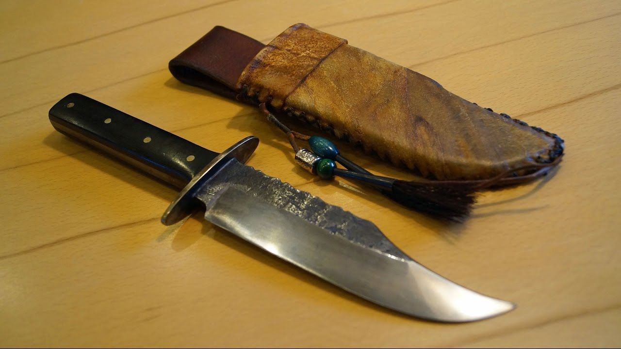 Joerg Schneider Custom Bowie Knife Native Indian Style