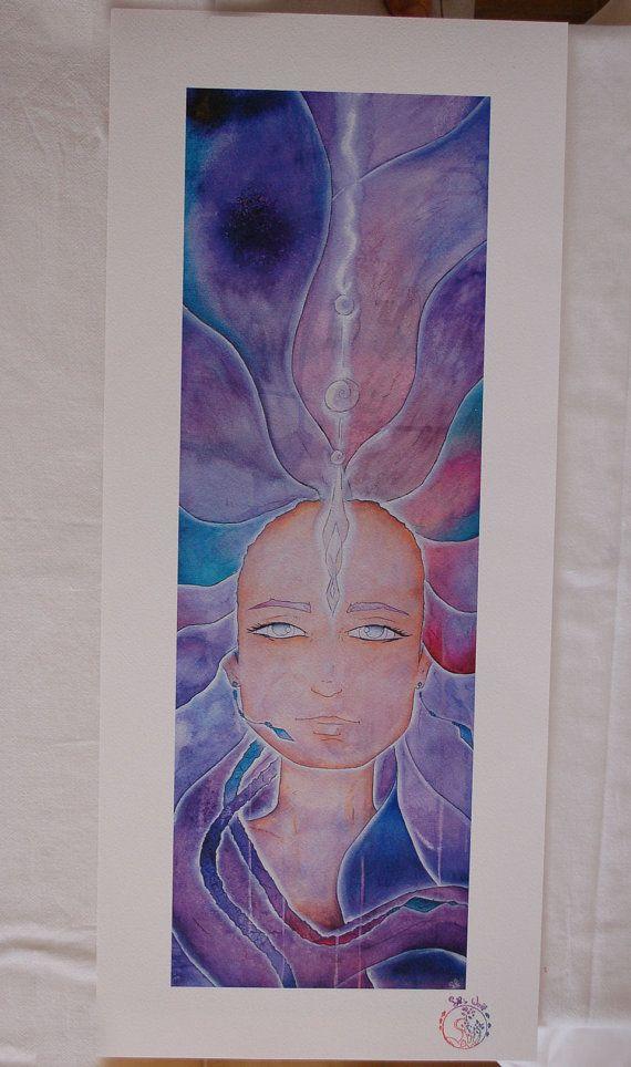 Fairy of spirituality Skylar Art print with di SileWorld su Etsy