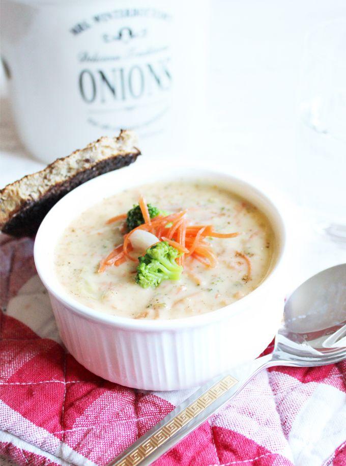 Panera Bread Broccoli Cheddar Soup authentic recipe ~ Panera Bread Brokkoli Cheddar Suppe Originalrezept
