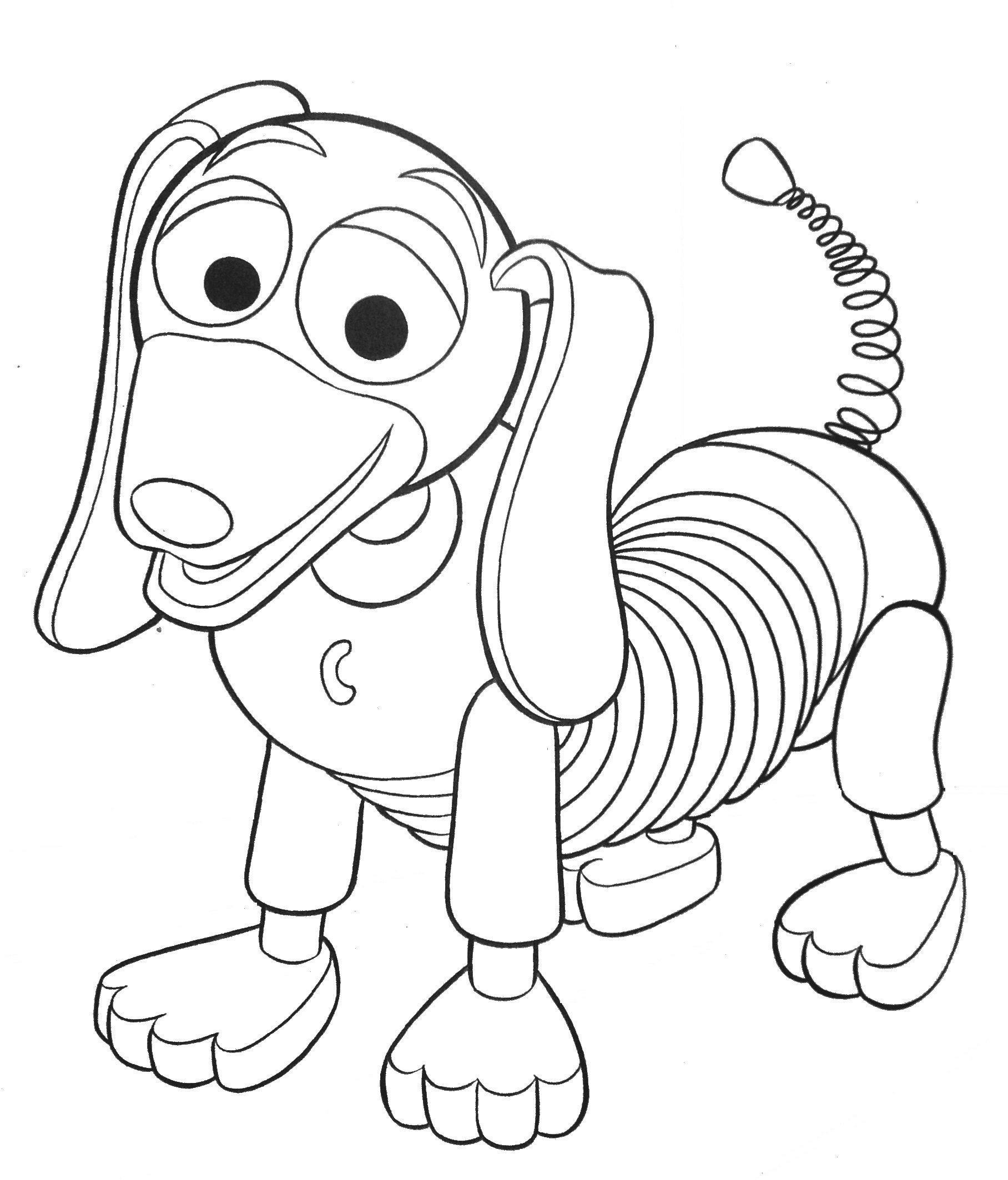 Toy Story Coloring Pages Toy Story Slinky Dog Coloring Pages