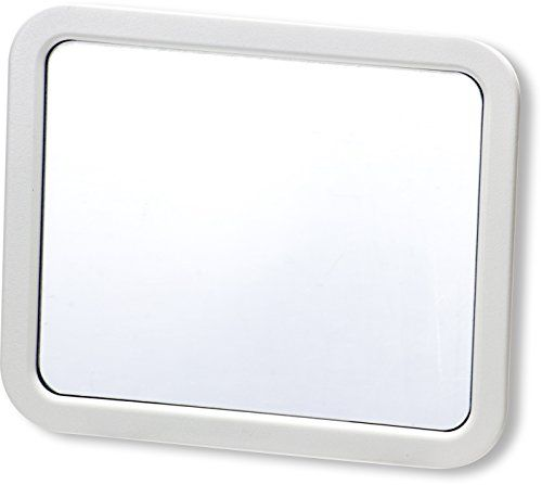Officemate MagnetPlus Magnetic Mirror, White Check Your Appearance Or See  Whou0027s Behind You May Be Used Vertical Or Landscape Heavy Duty Magnetic  Backing