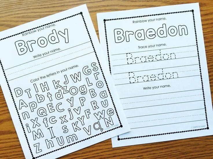 Names Editable Names Activities Name Printables Kindergarten