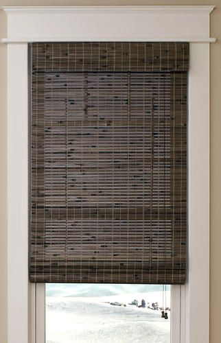 Intercrown Corded Natural Woven Wood Roman Shades 27 X 64 At Menards Woven Wood Roman Shades Woven Wood Shades Woven Wood