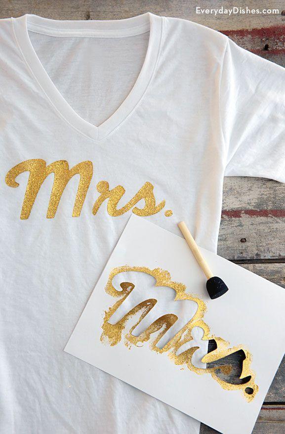 DIY Mrs T-shirt Instructions