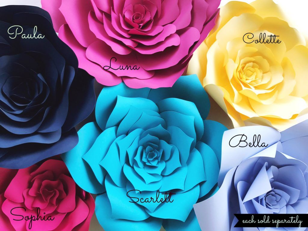 30 Off Large Paper Flowers Diy Templates Now Is The Time To Stock