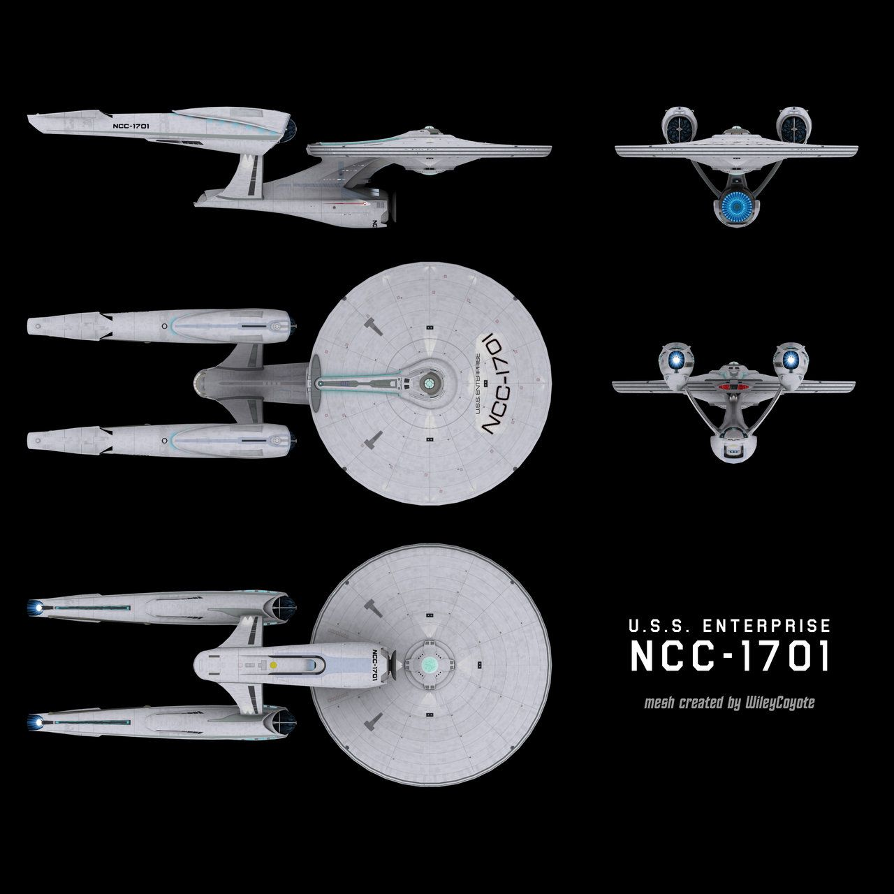 abramsverse u.s.s. enterprise ncc-1701 schematic by ~trekmodeler, Schematic