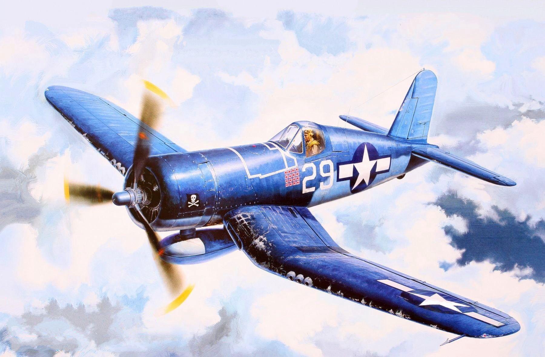 Обои Вторая мировая, F4u corsair, chance vought. Авиация foto 14