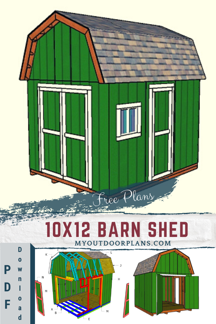 Shed Plans 10x12 Gambrel Shed Construct101 Free Shed Plans Shed Plans Building A Shed