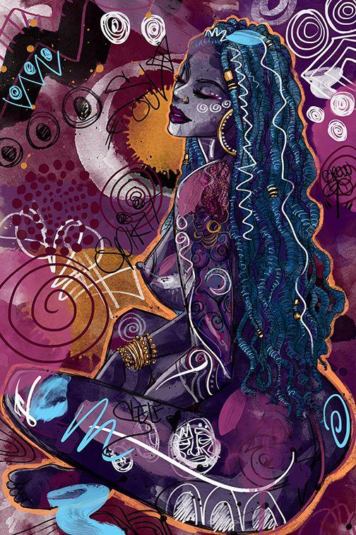 "Tahiya"" Fine Art Print | Hippie art, Art, Art prints"