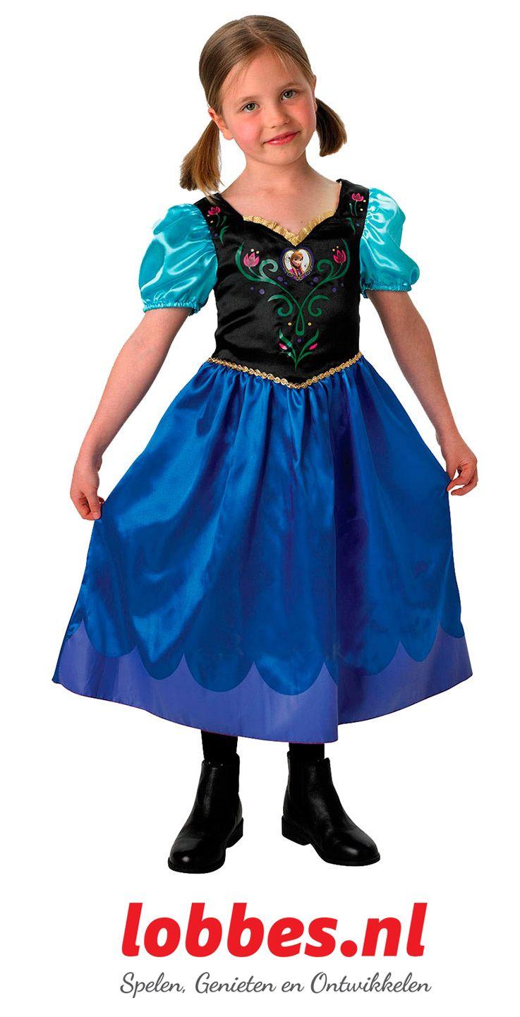 Verkleed je als Anna van Disney Frozen met deze sprookjesachtige jurk.
