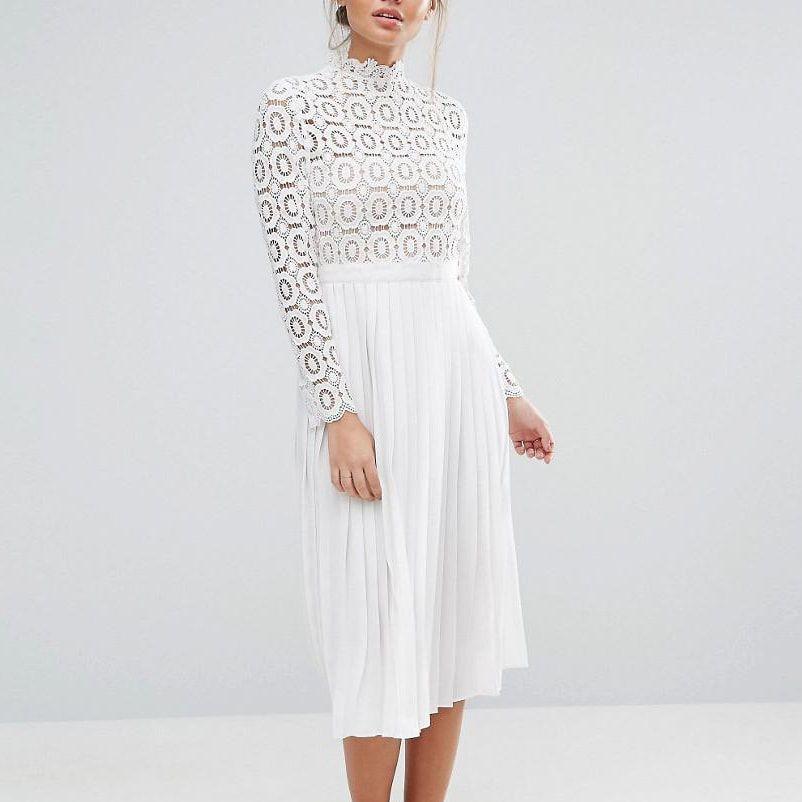 599da741ec15 For the Self-Portrait Pleated Crochet Floral Maxi Dress   My Style ...