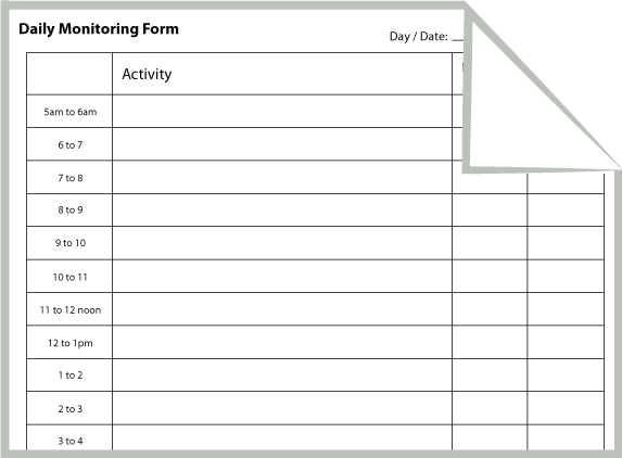 Daily Monitoring Form  School Ideas    Cbt Therapy