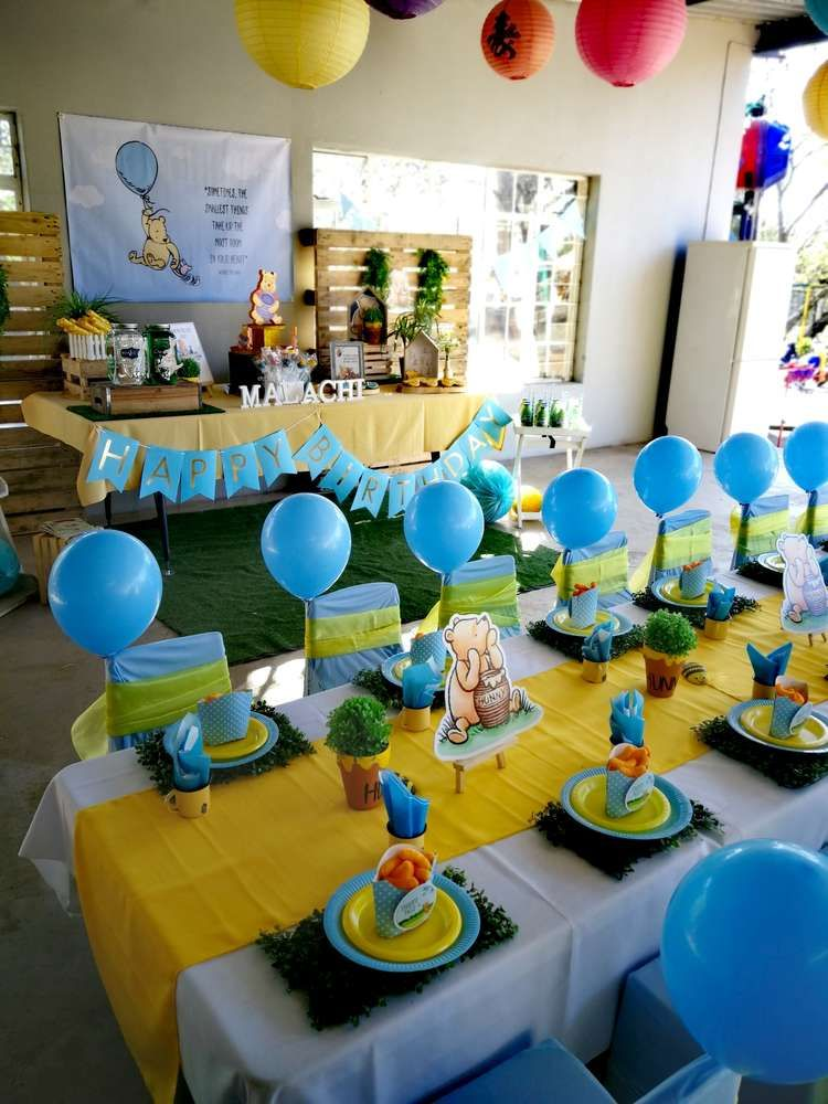 Winnie the Pooh Birthday Party Ideas Kids party tables
