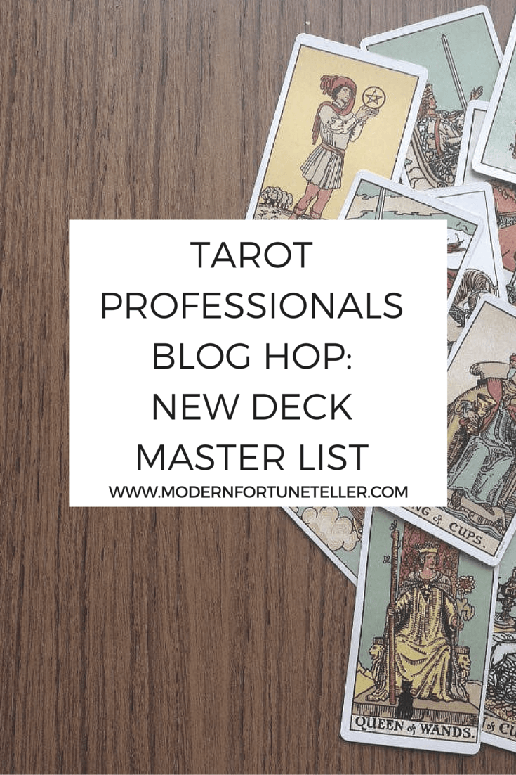 The tarot professionals blog hop master list for January.