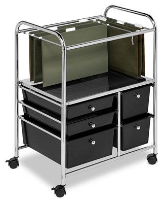 Honey Can Do Hanging File Storage Cart, 5 Drawer