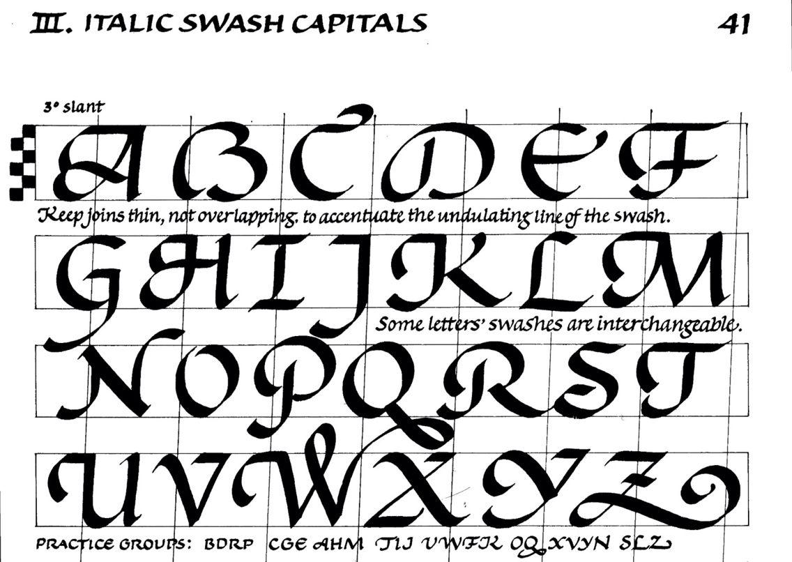 Italic Swash Capitals