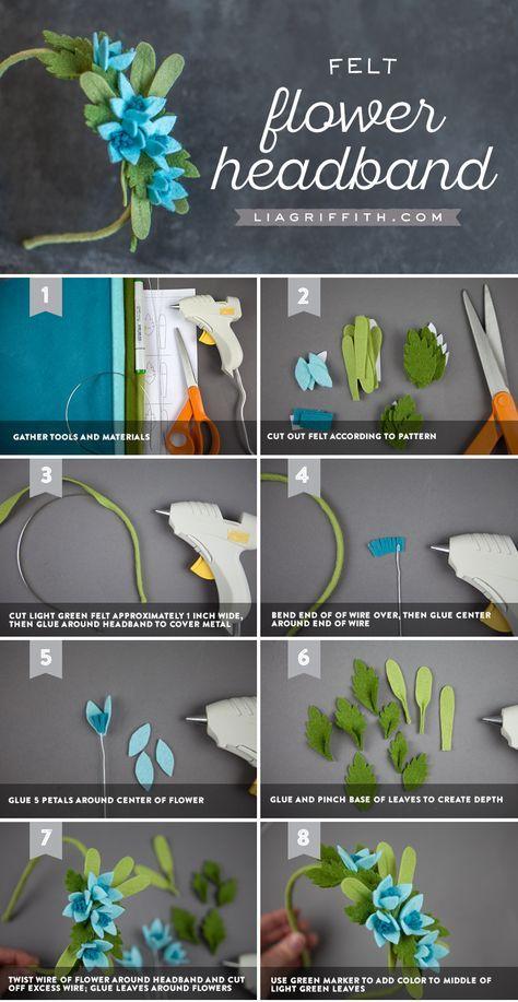 Felt Flower Headband - Lia Griffith