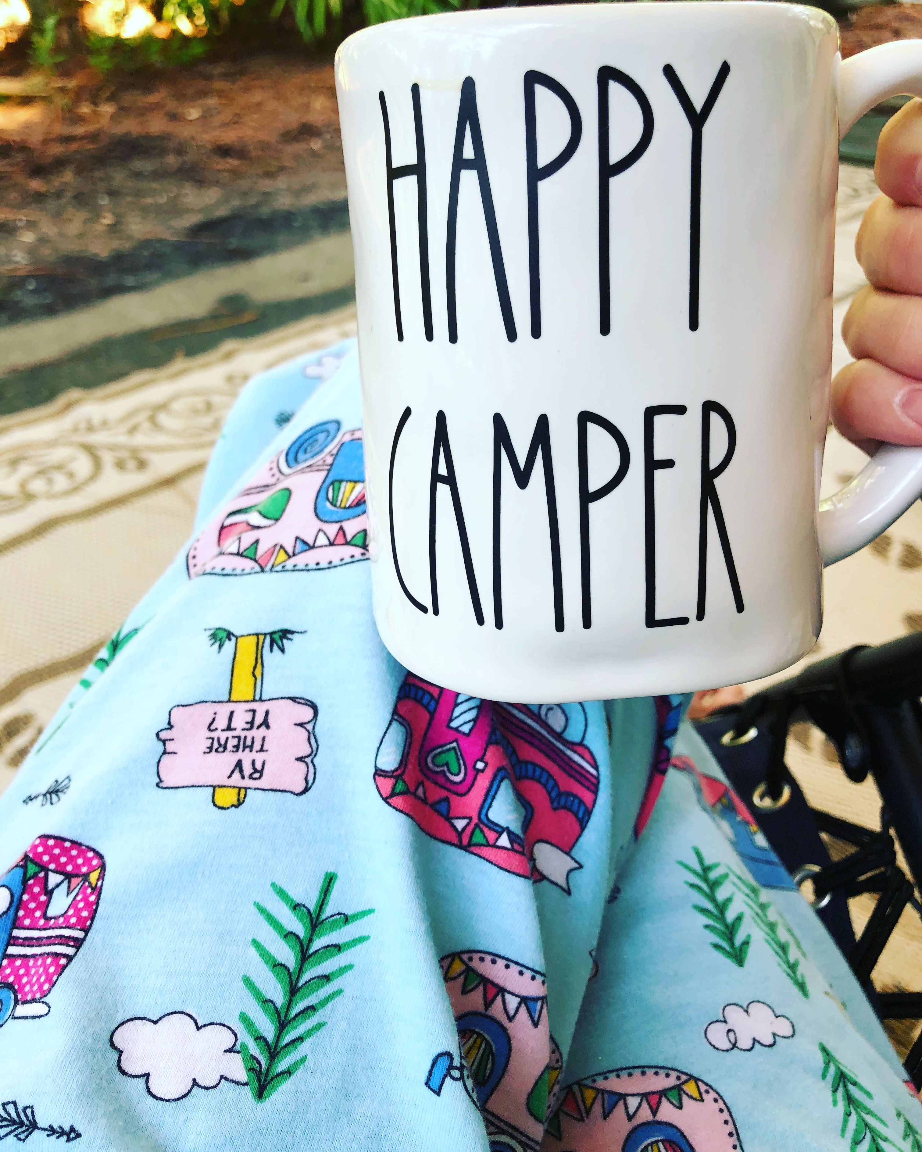 5fd7d2c090c Camping. Rae Dunn Font Happy Camper. | Camper in 2019 | Happy ...