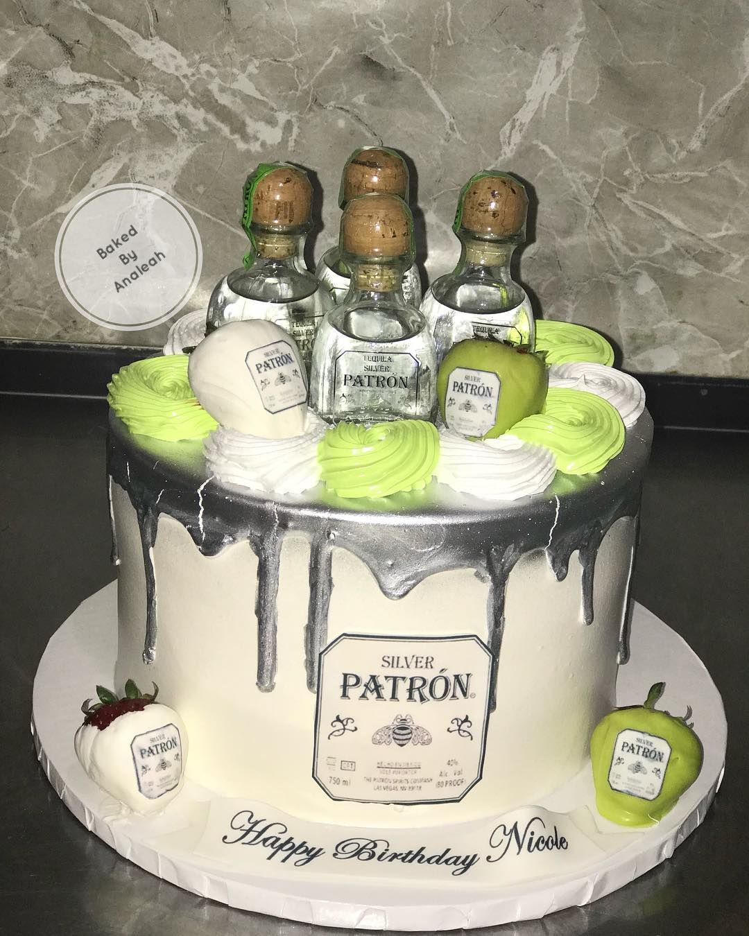 Phenomenal Tequila Patron Themed Cake Bakedbyanaleah Bizcochodominicano Funny Birthday Cards Online Elaedamsfinfo