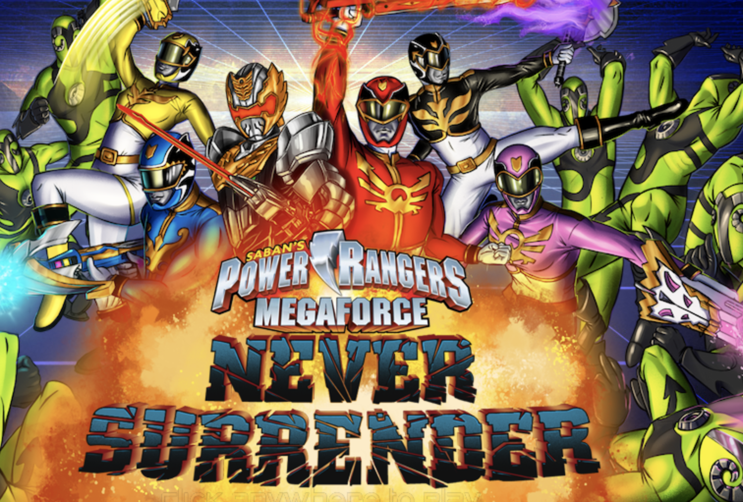 Play Power Rangers Never Surrender Game in 2020 Power