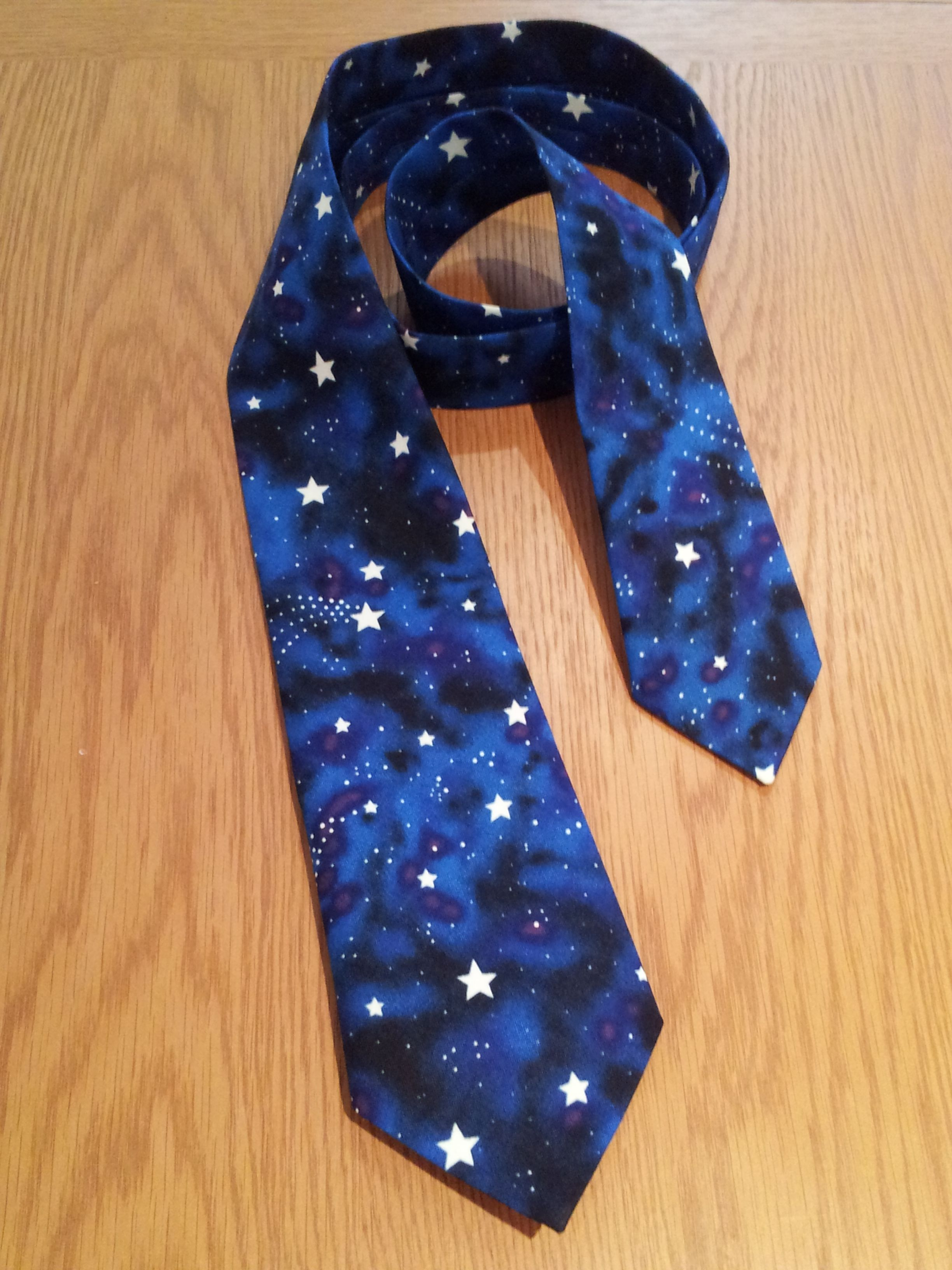 Handmade glow in the dark star tie