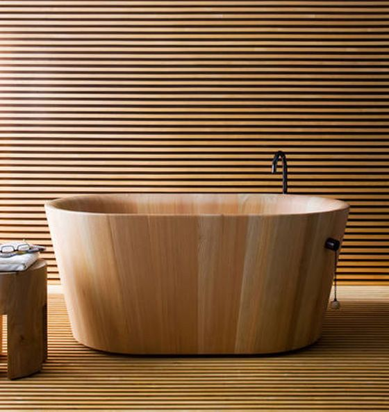 Japanese Accessories Bathtub Furniture By Rapsel Wood Tub