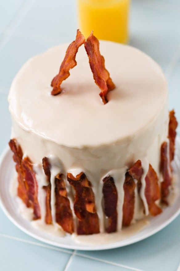 Maple Bacon Cake Cake Recipes Pinterest Bacon Cake Maple